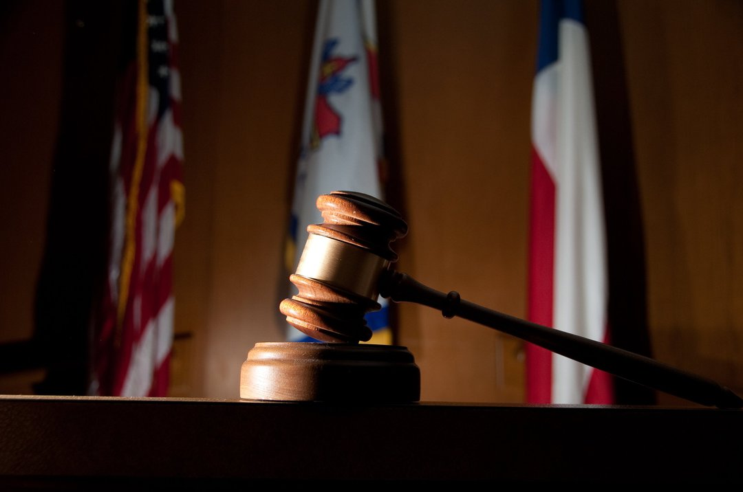 gavel and flags